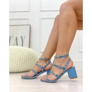 Sandália Tachas Azul