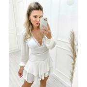 Vestido Macaquinho Branco Jolie