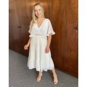 Vestido Midi Branco Delicate