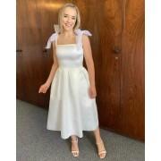 Vestido Midi Branco Diana
