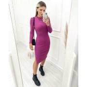 Vestido Midi Canelado Purple