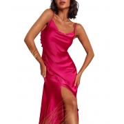 Vestido Midi Cetim Pink