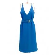 Vestido Midi Lauren Azul
