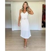 Vestido Midi Lauren Off-white