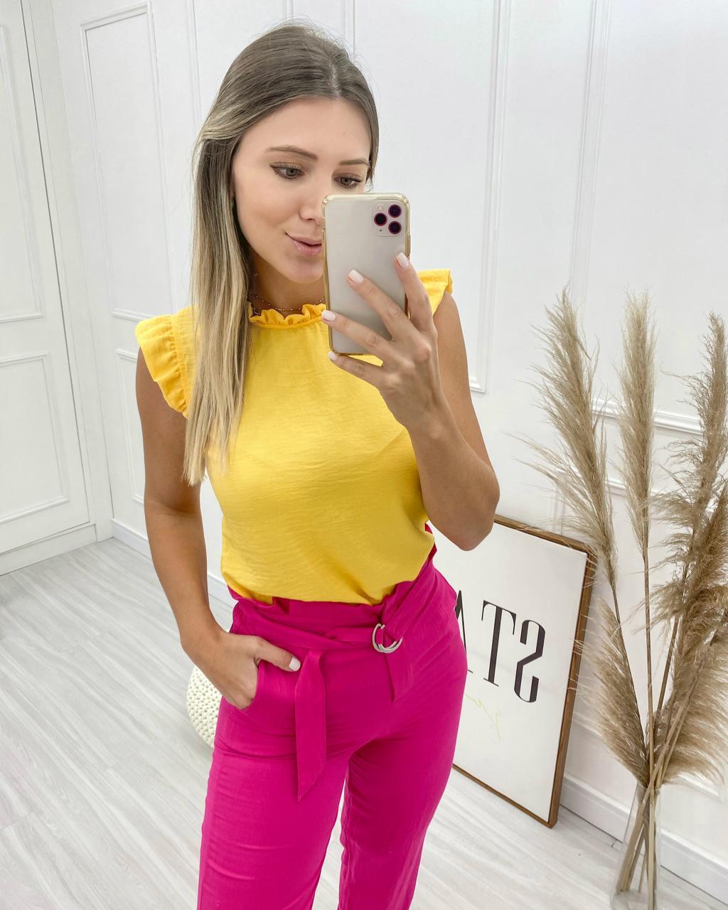 Blusa Lavínia Amarelo