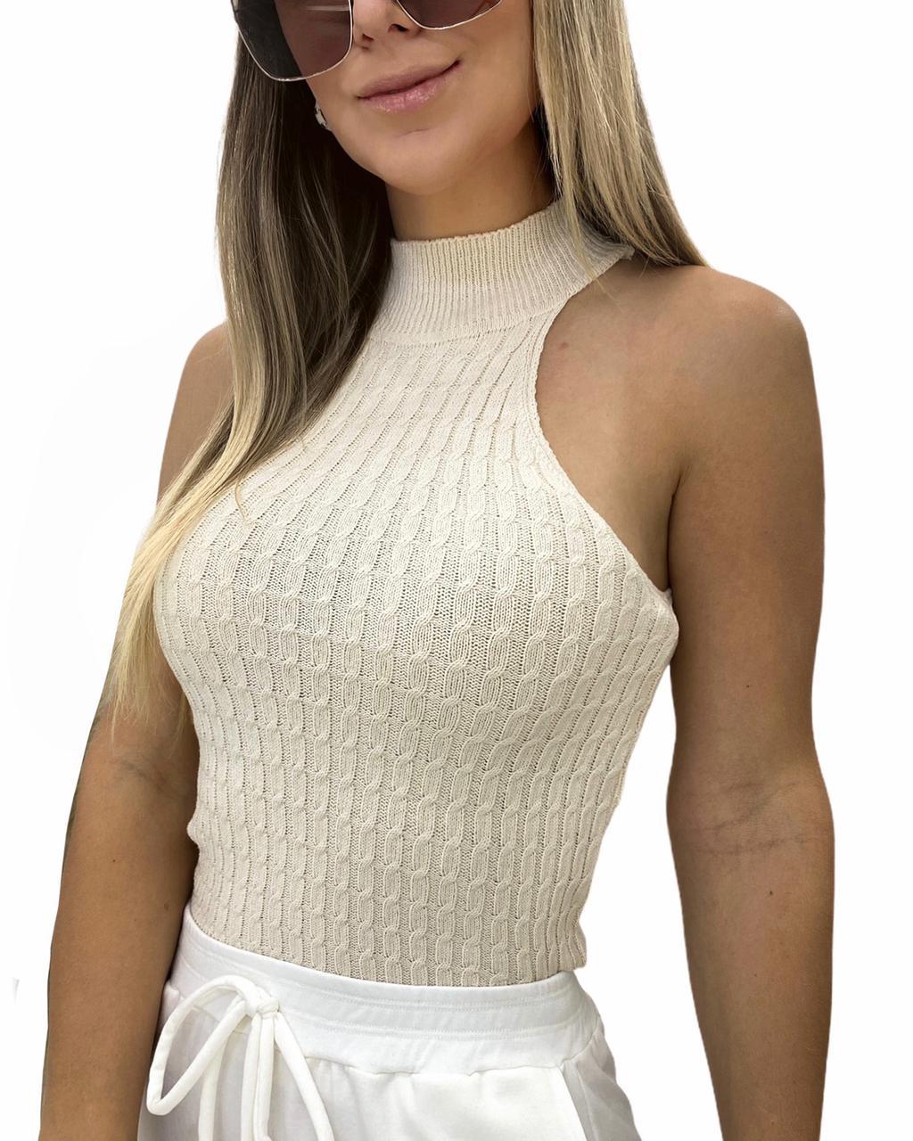 Blusa tricô Bianca Off-white
