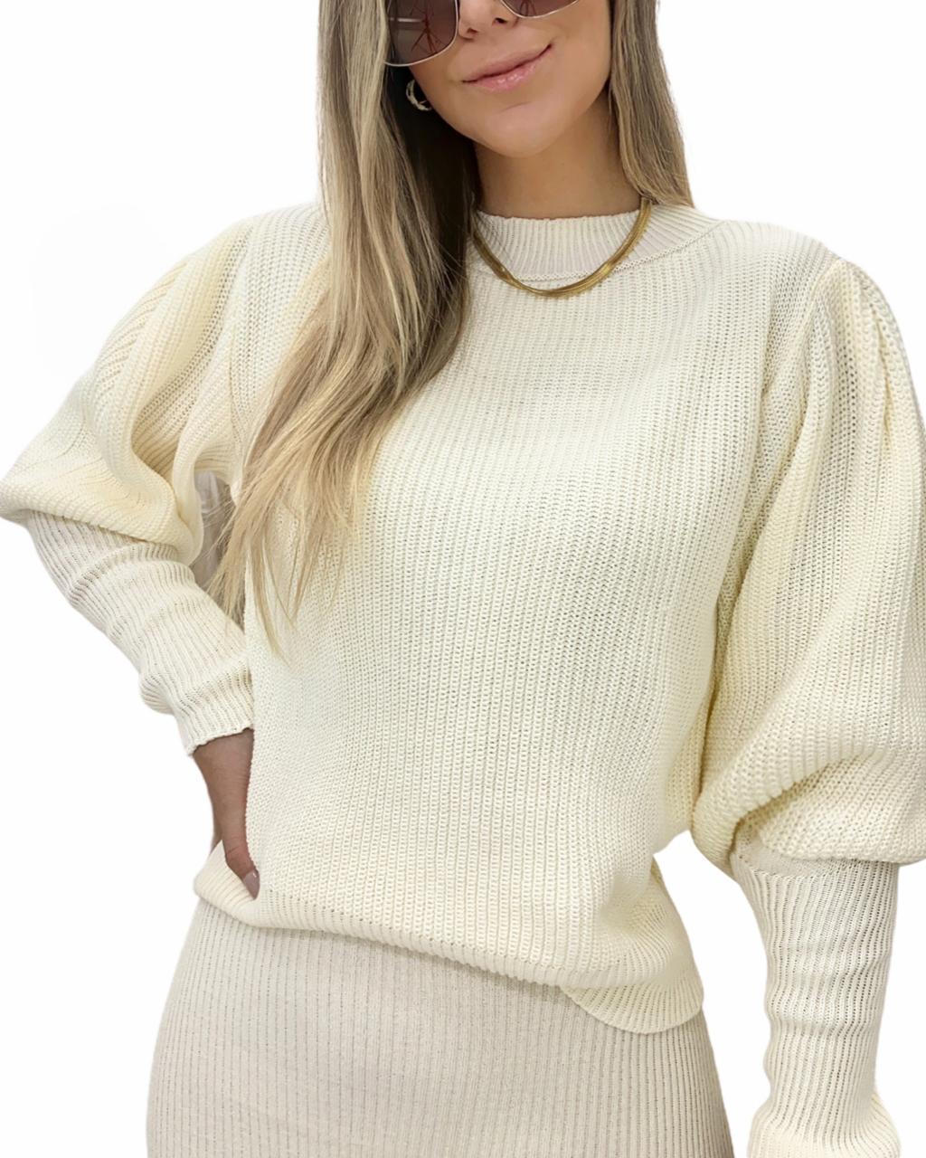 Blusa tricô Serena Off-white