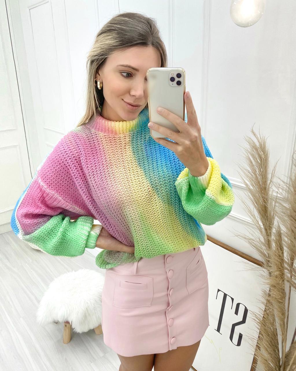 Blusa Tricô Tie Dye