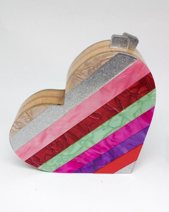 Bolsa Clutch Coração