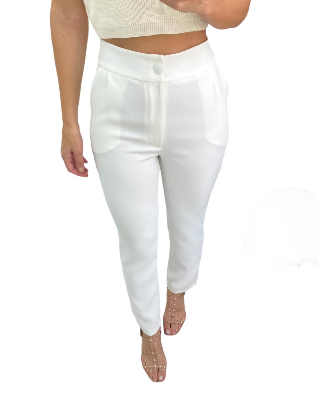 Calça Alfaiataria Off-white