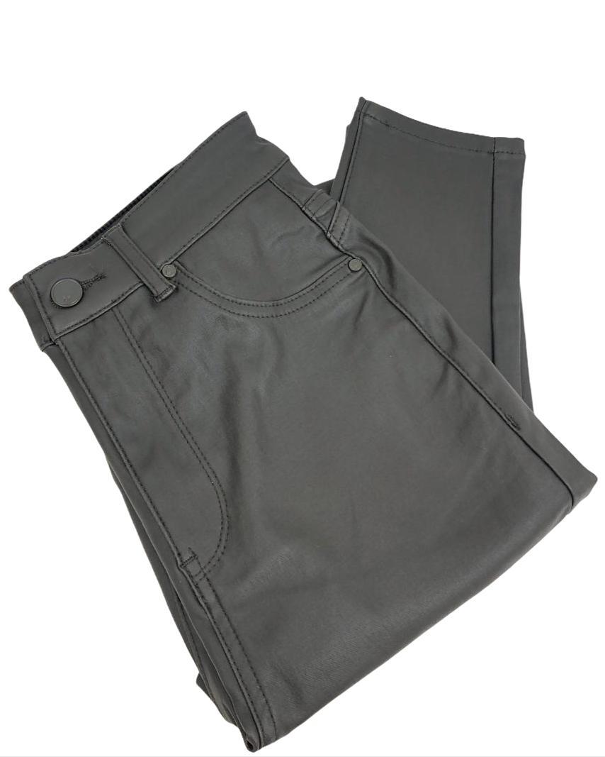 Calça Skinny Resinada Verde