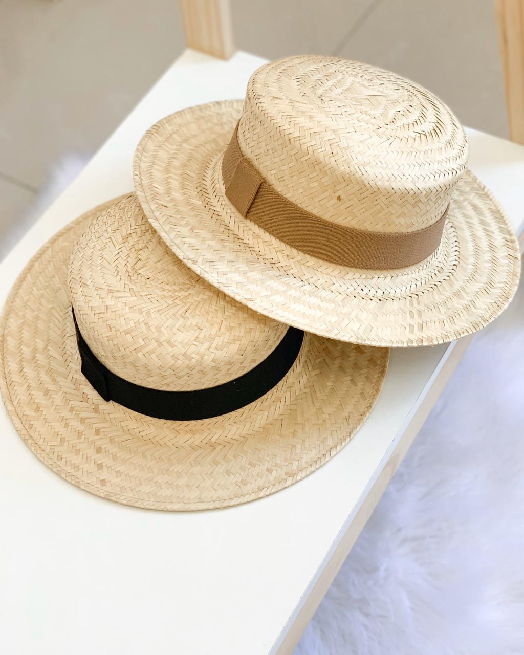 Chapéu de Palha Aba Média com duas Faixas