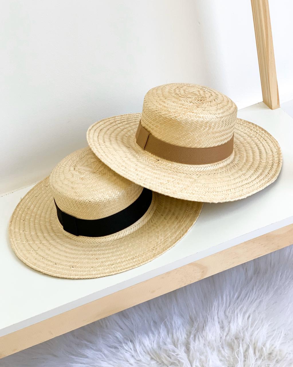 Chapéu de Palha com duas faixas