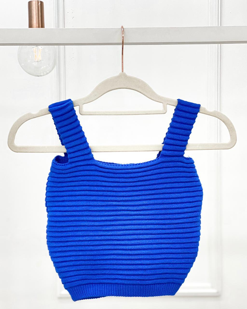 Cropped Ilhabela Azul Bic