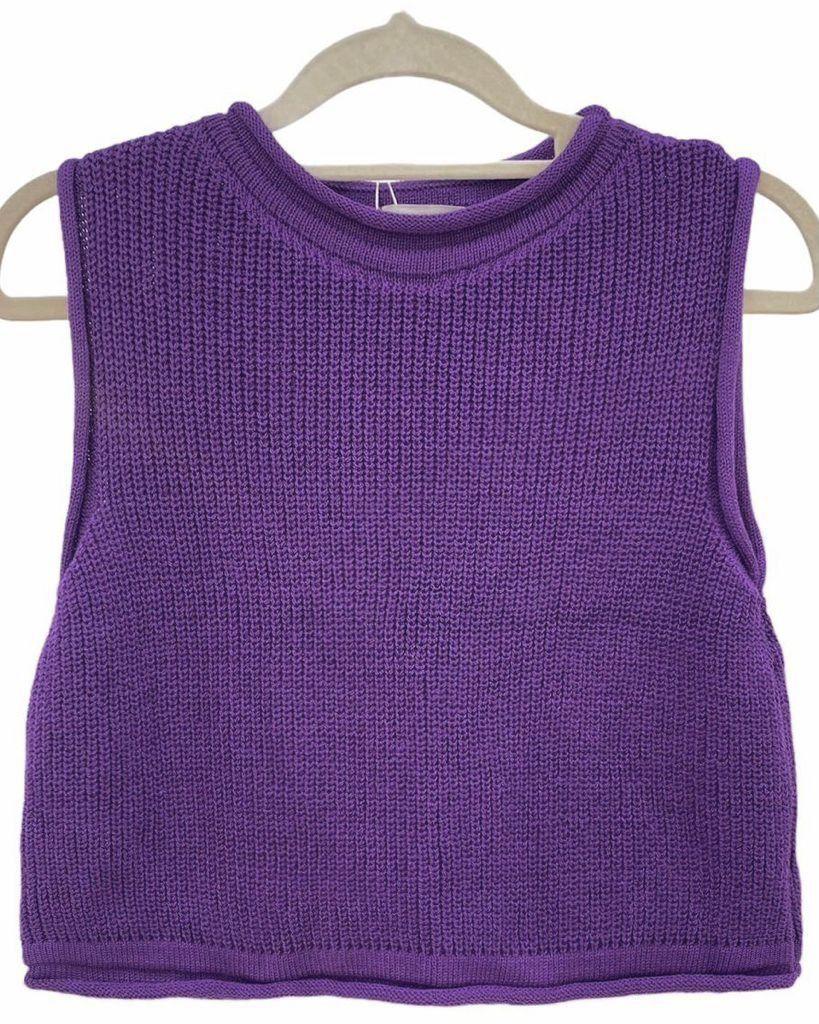 Cropped Tricô Eloah Purple