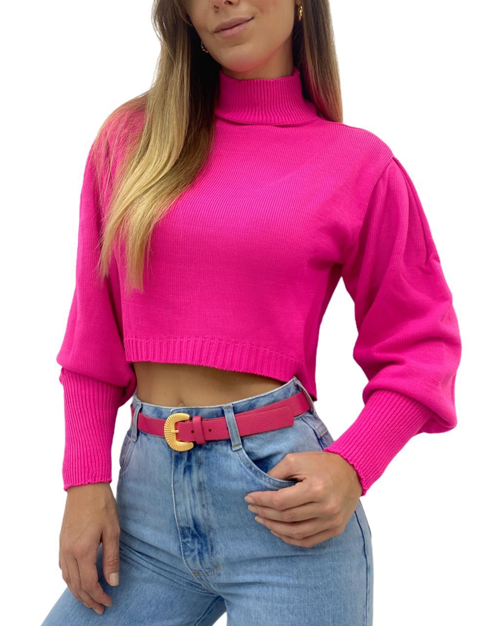 Cropped Tricô Valentina Pink
