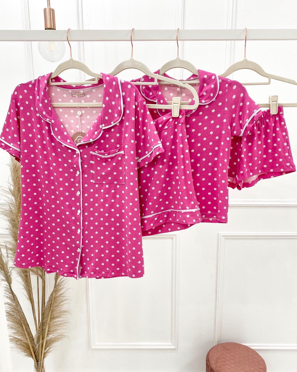 Kit de Pijamas Mãe e Filha