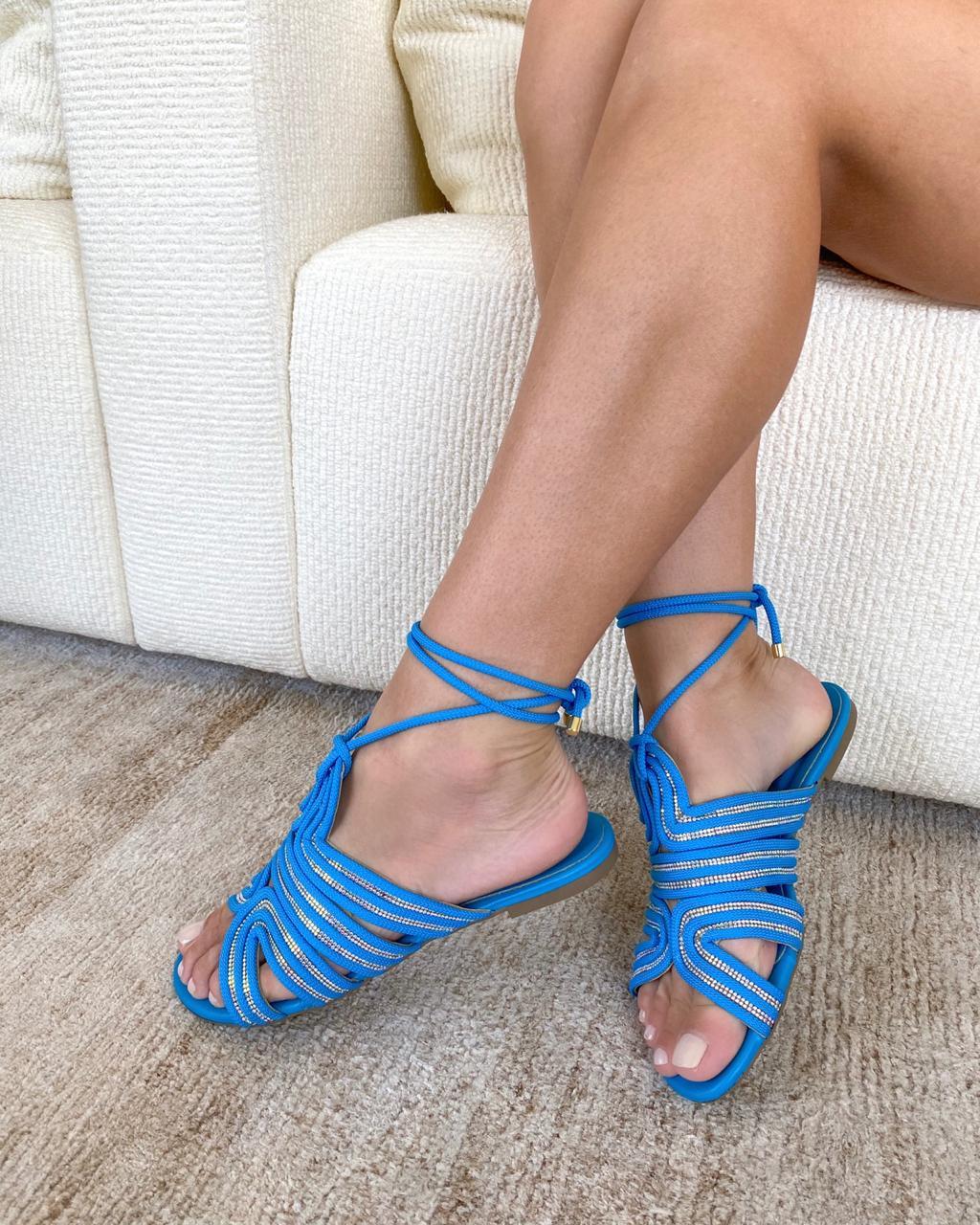 Rasteira Trancoso Azul