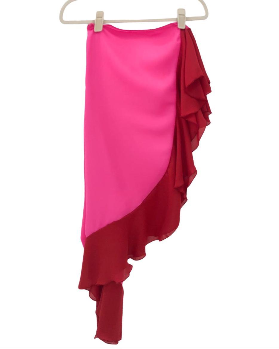 Saída Pareo Red and Pink