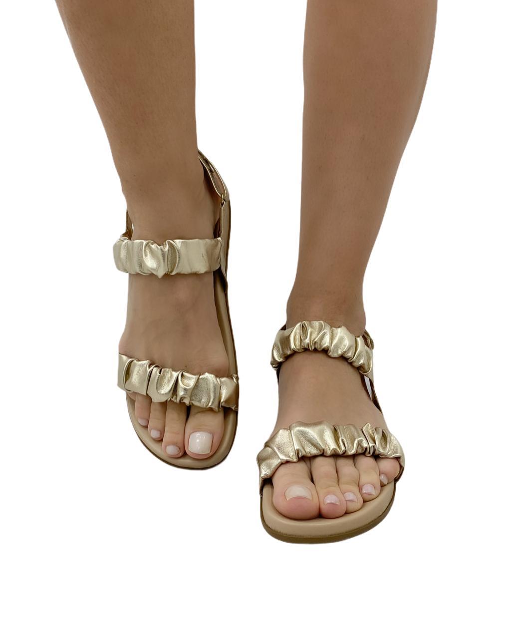 Sandália Flatform Ipanema Dourado