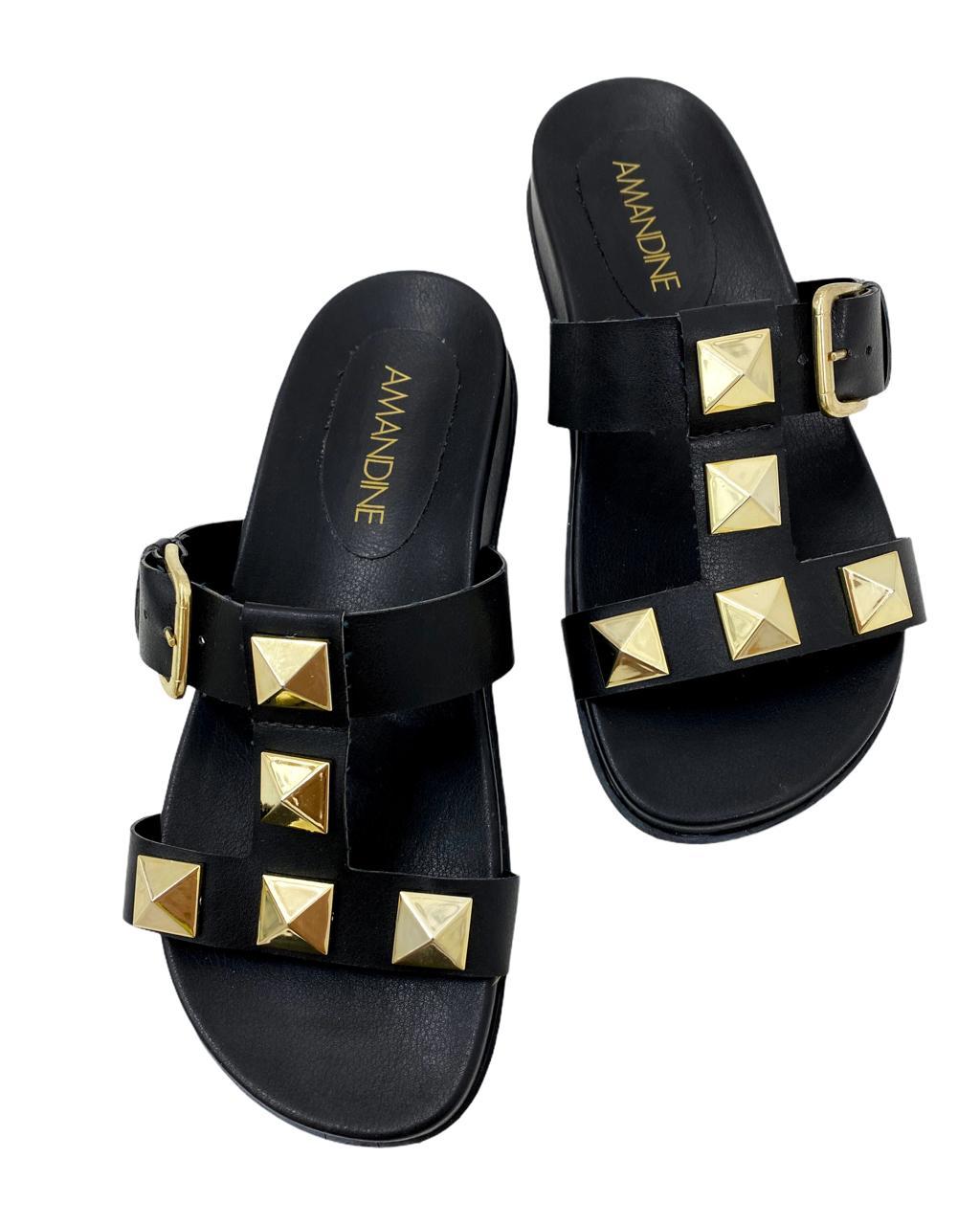 Sandália Flatform Maxi Tachas