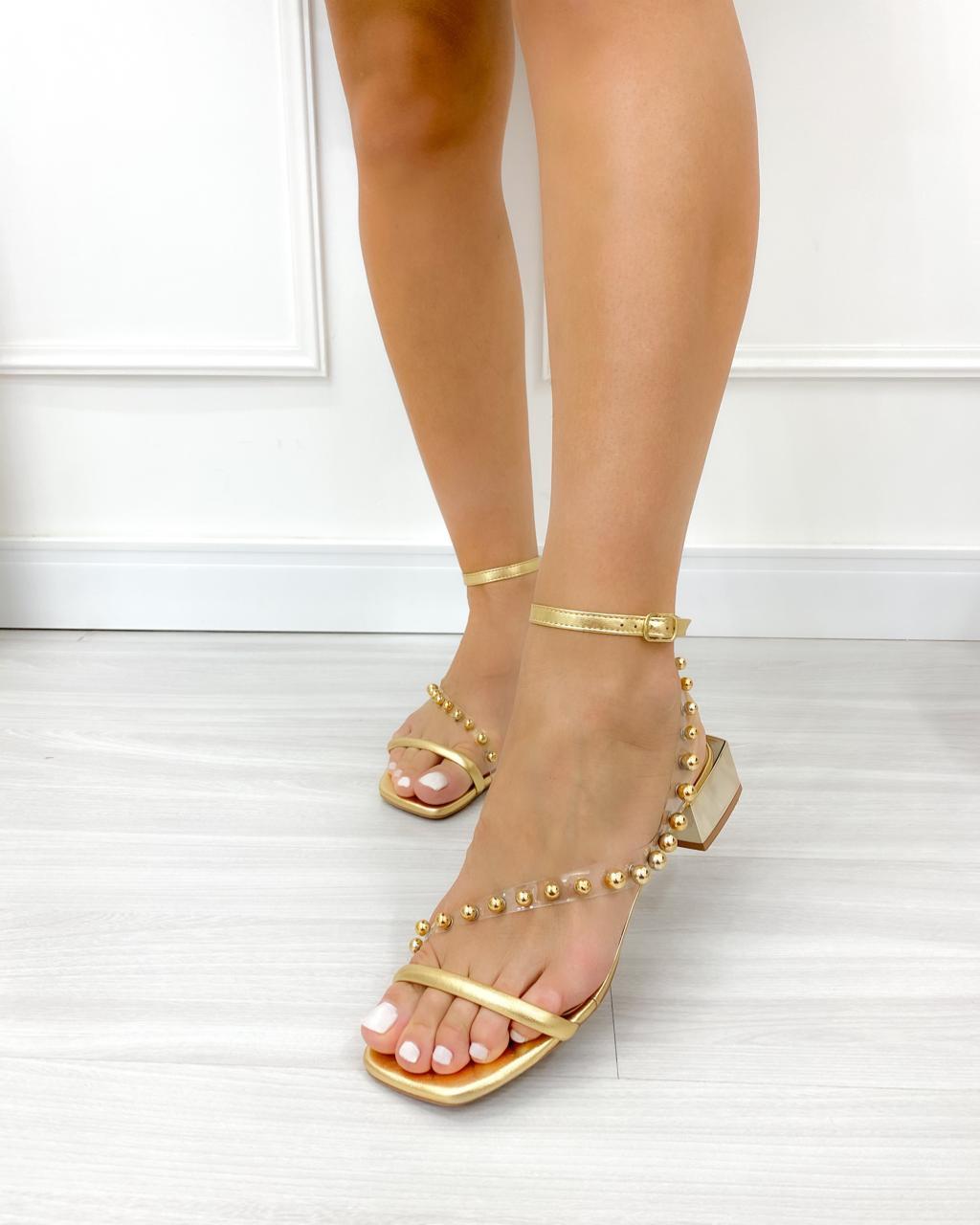 Sandália Laila Dourado