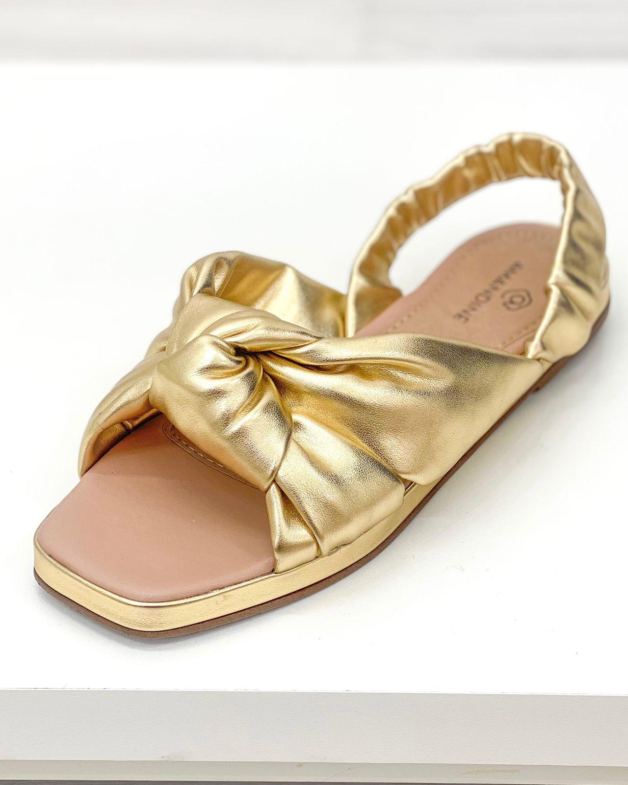 Sandália Malibu Dourado