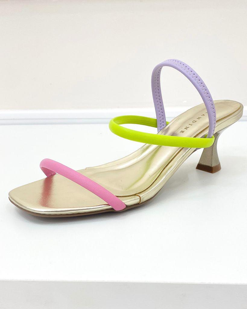 Sandália Minimalista Colorido