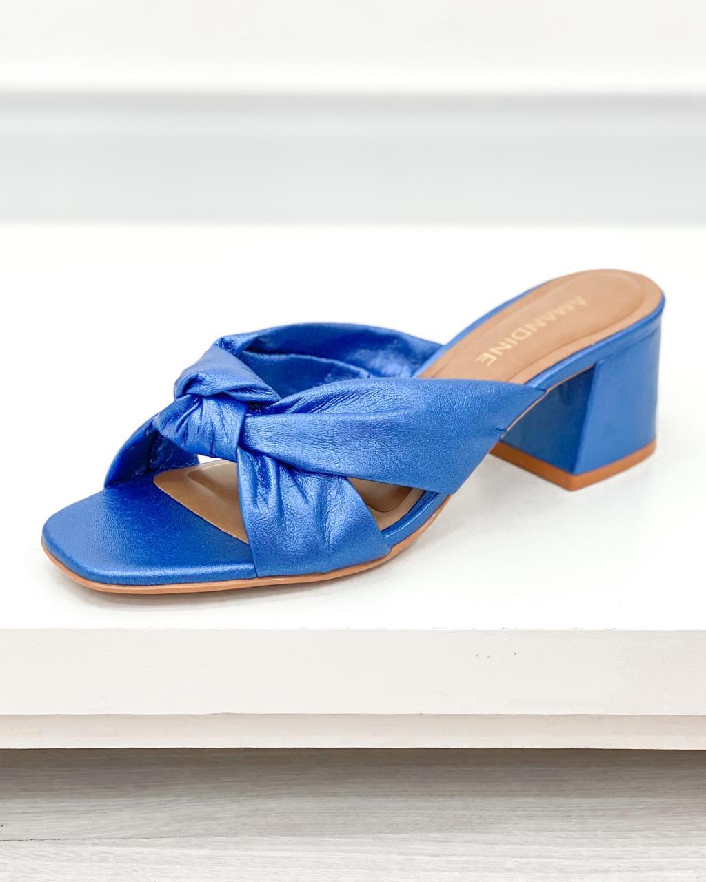 Sandália Mule Amélia Azul