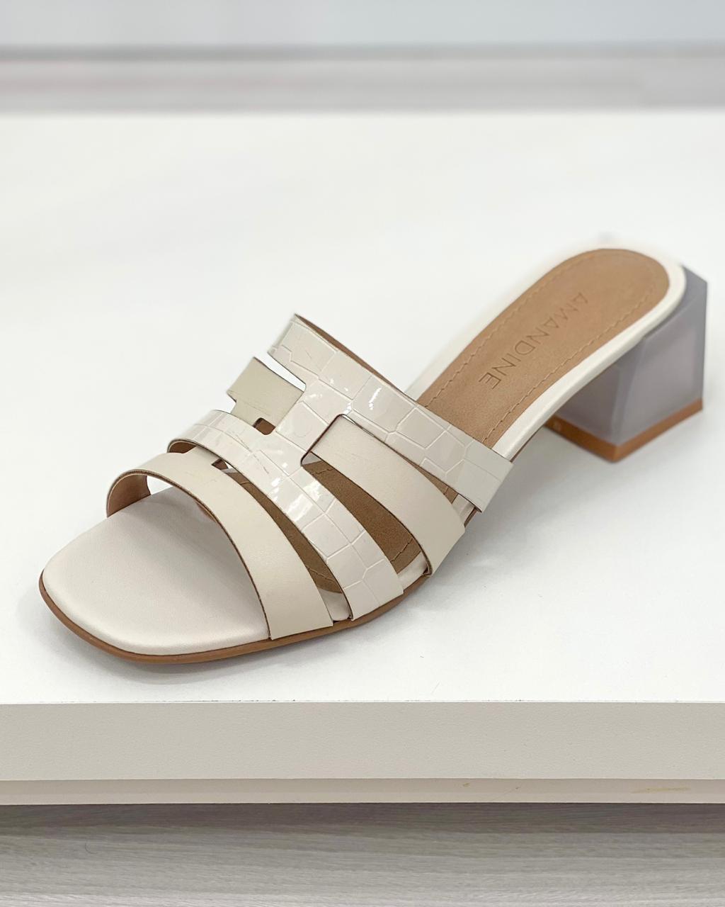 Sandália Mule Lauren Off-White