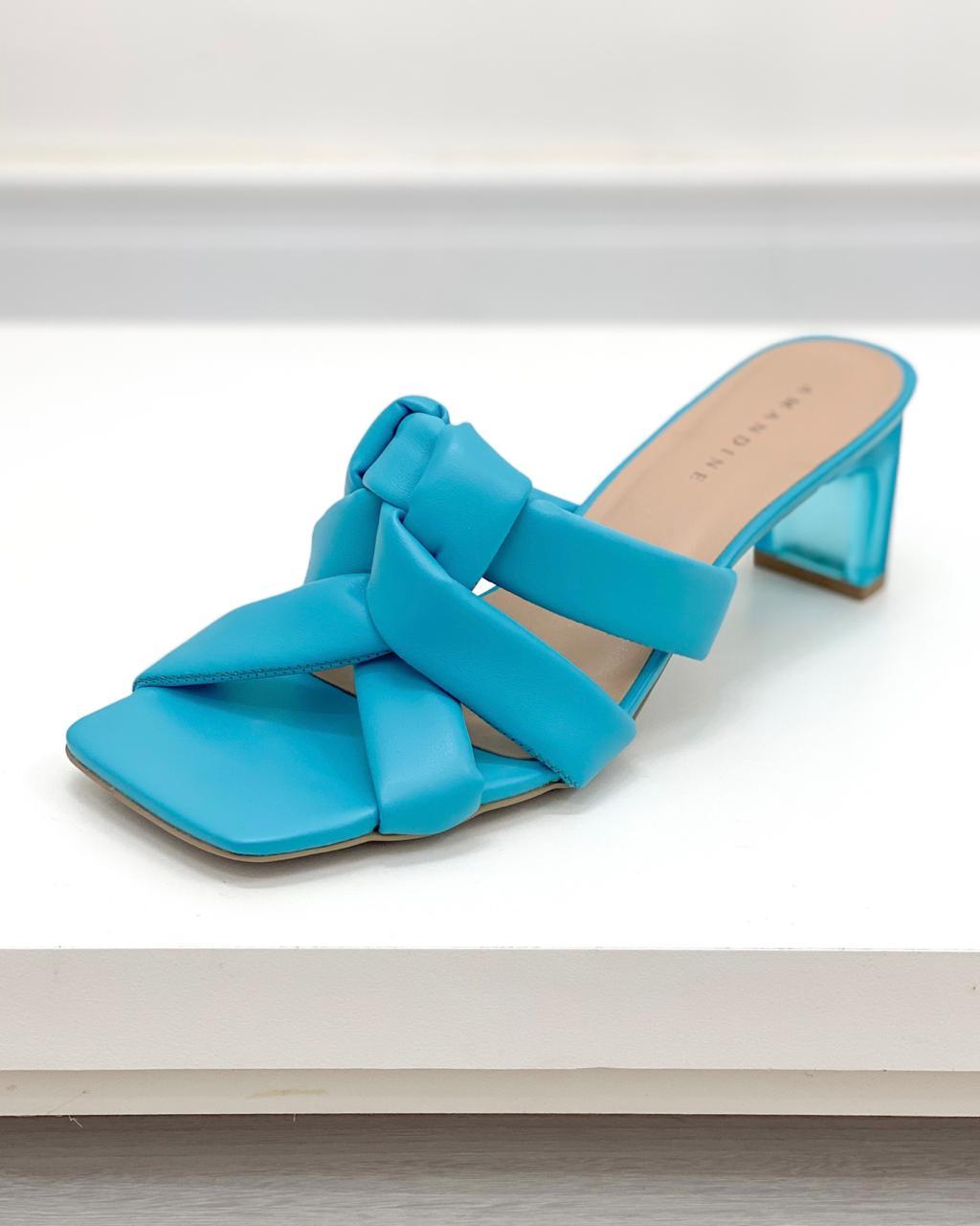 Sandália Mule Marbella Azul
