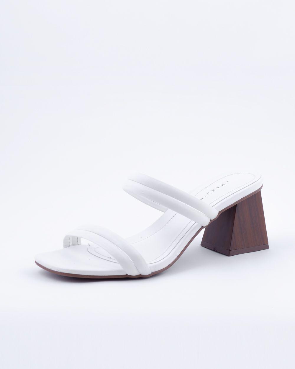 Sandália Mule Tiras Branco