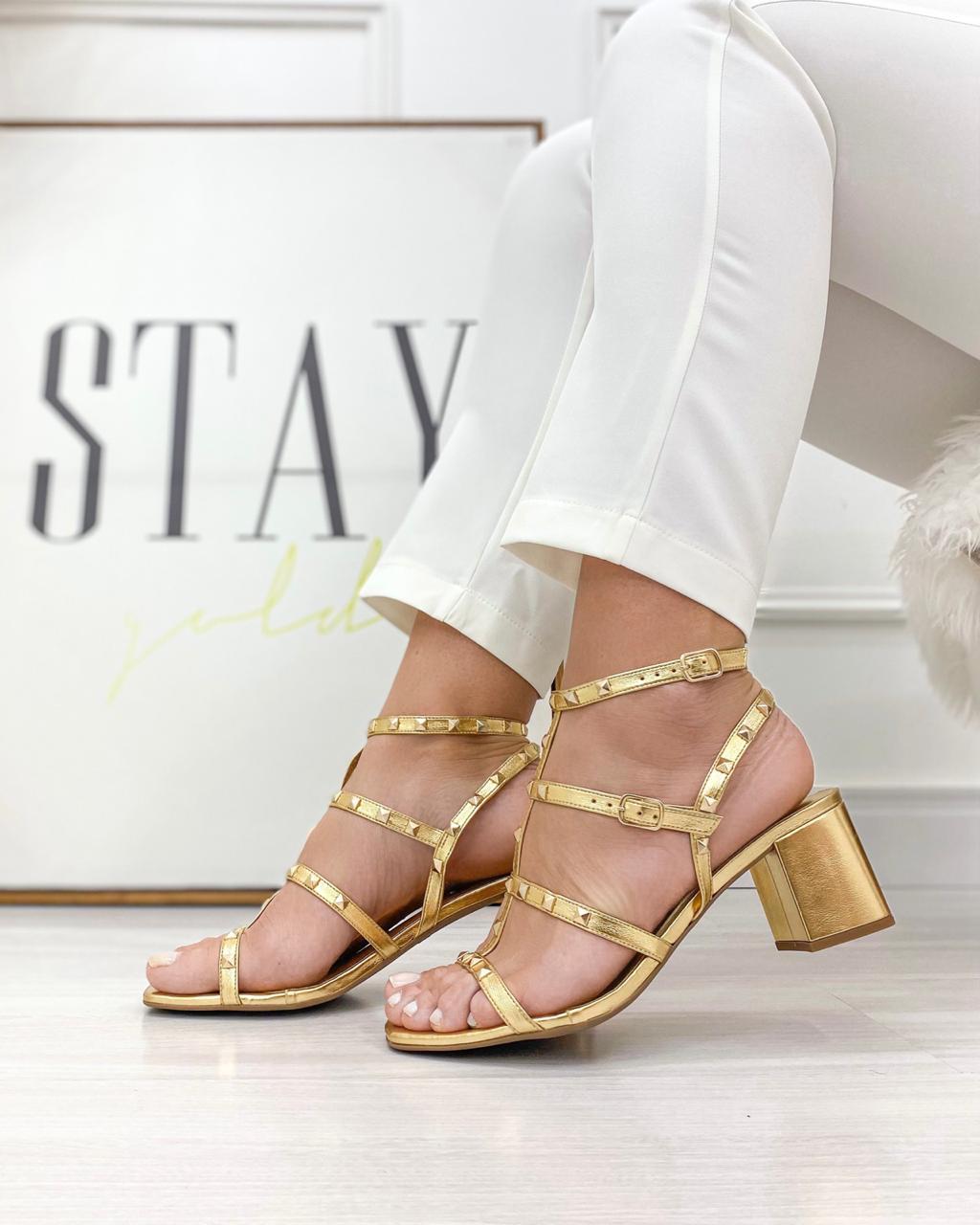 Sandália Taxas Dourado