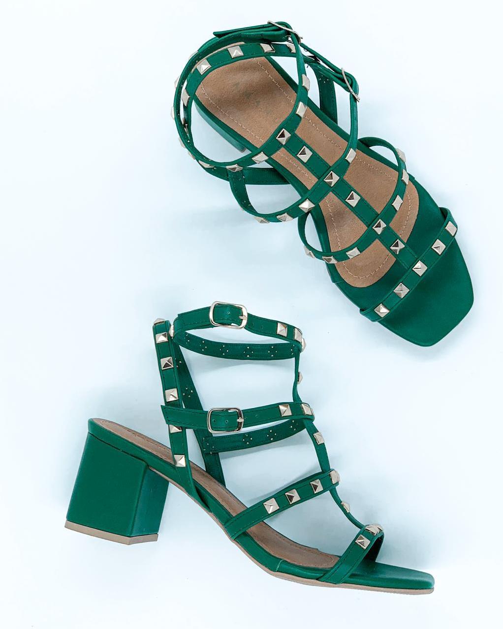 Sandália Taxas Verde