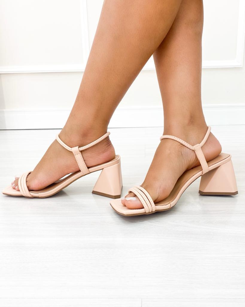 Sandália Trend Salto Triangular Rose