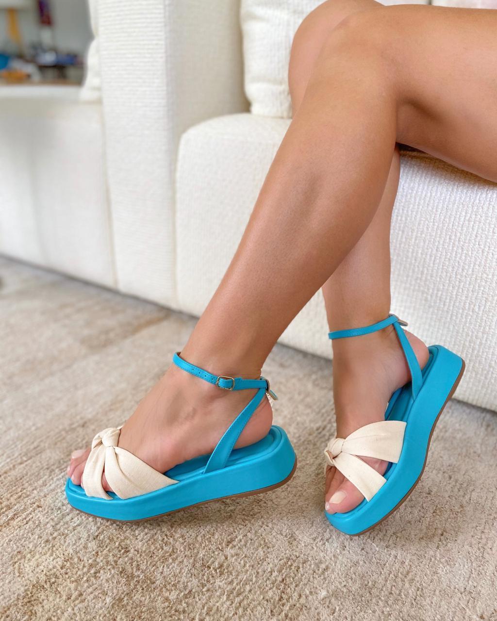 Sandália Verona Azul