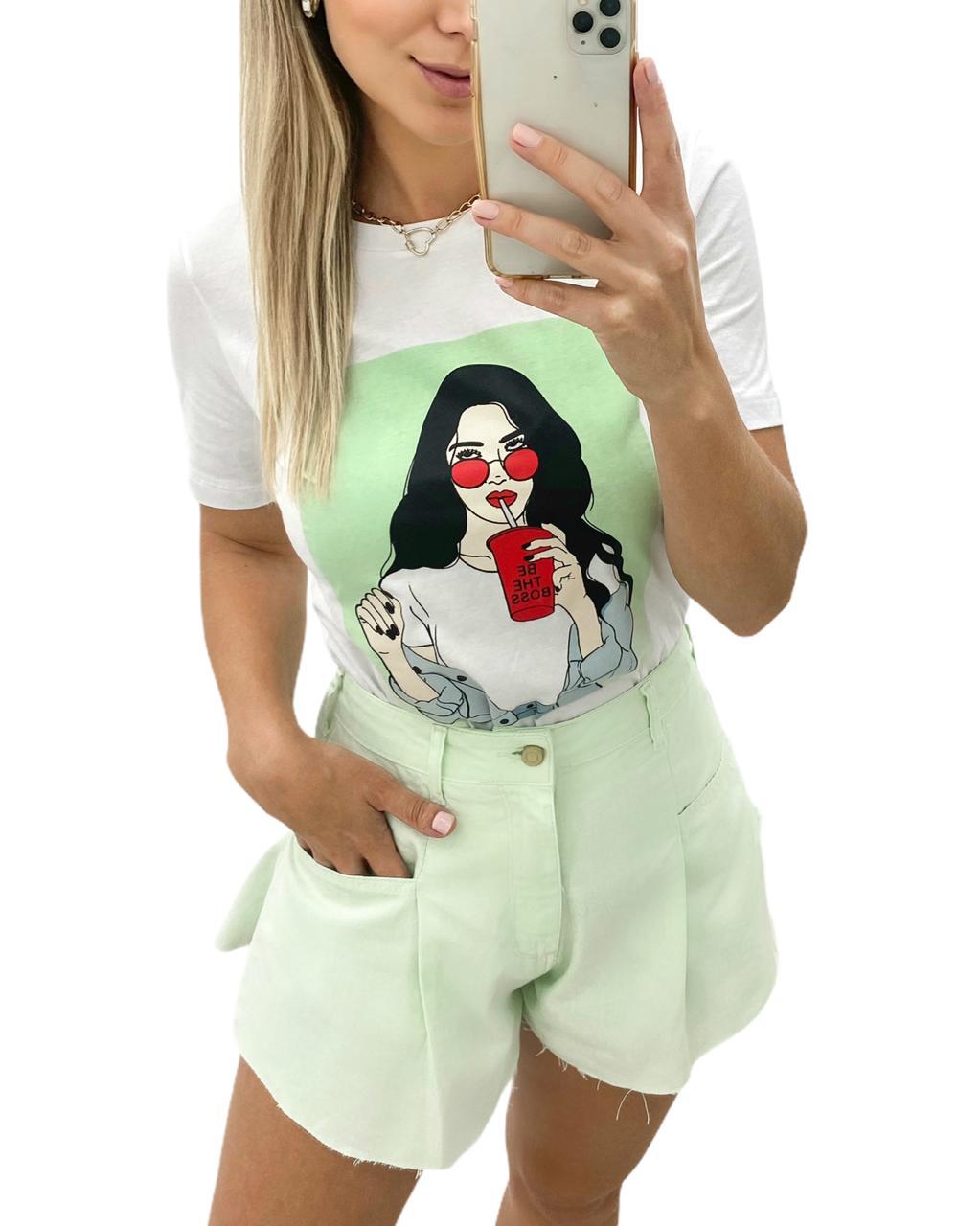 T-shirt Be The Boss Verde