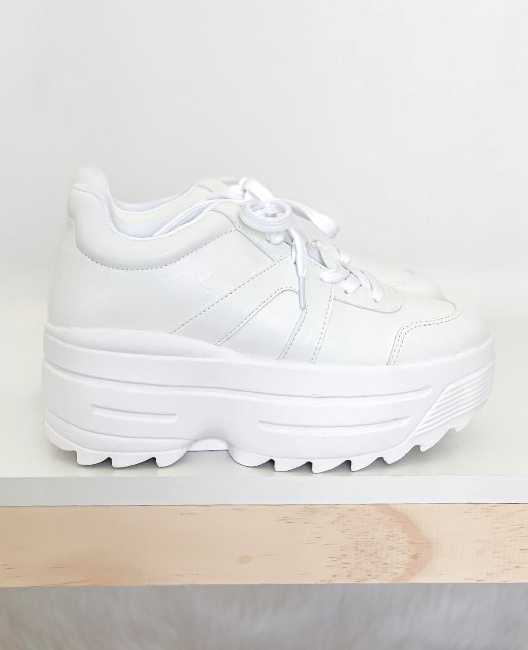 Tênis Flatform White