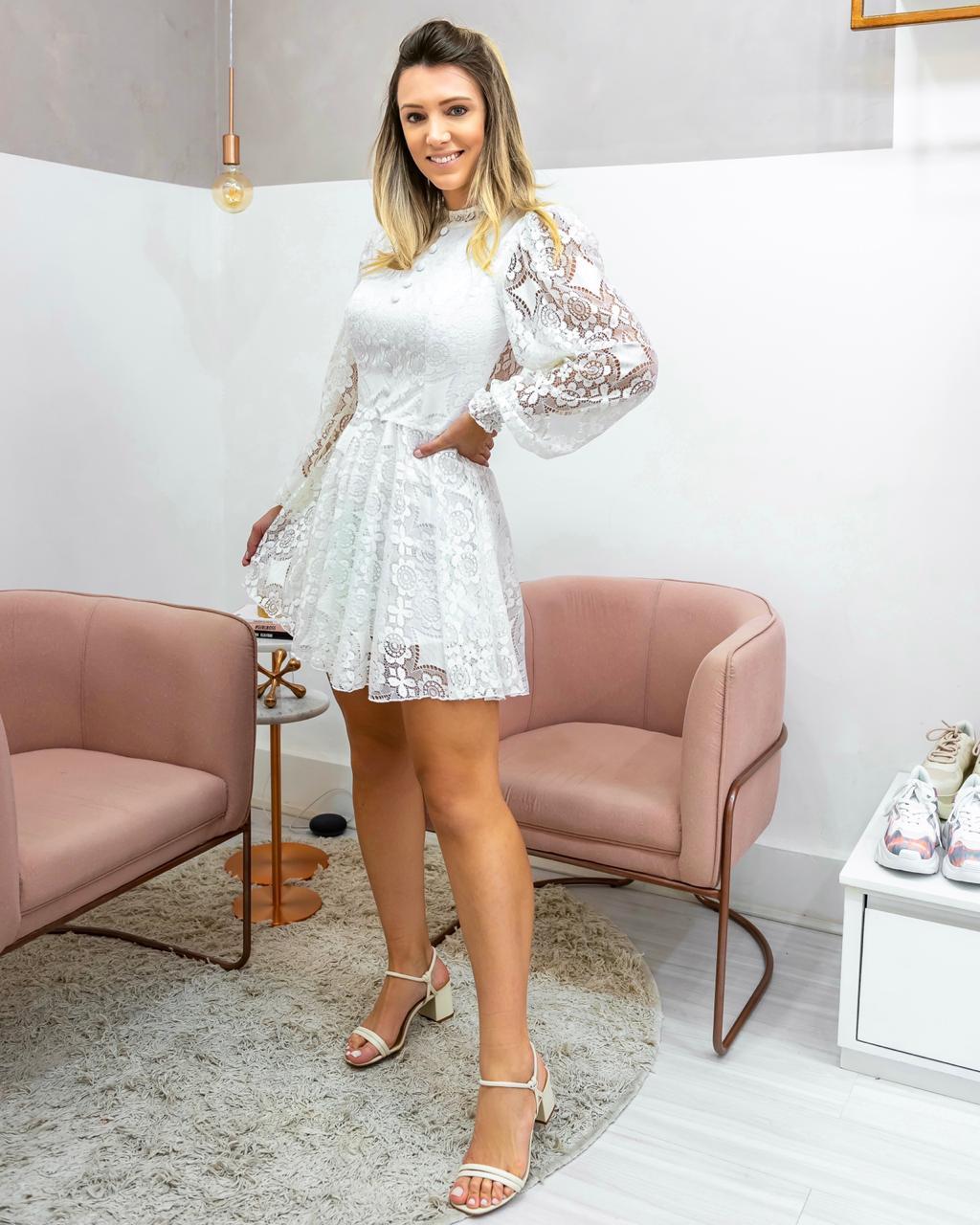 Vestido Branco Noivinha