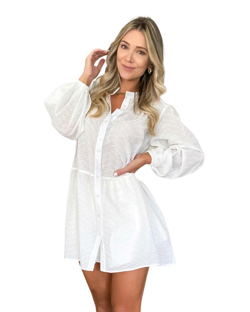 Vestido chemisier Trancoso Off-White
