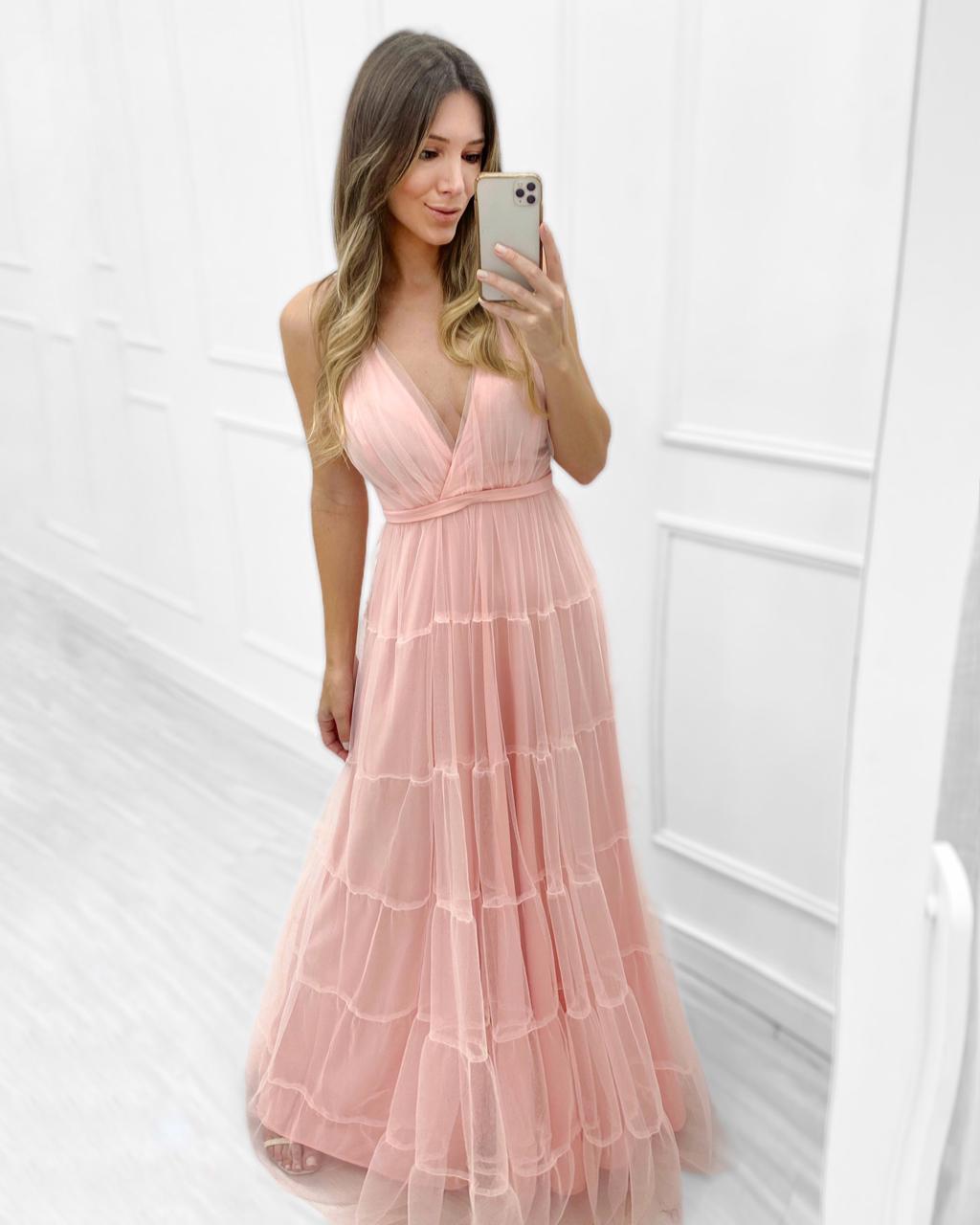 Vestido Longo Madrinha Rose