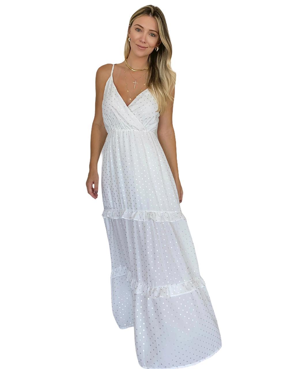 Vestido longo Shine Branco