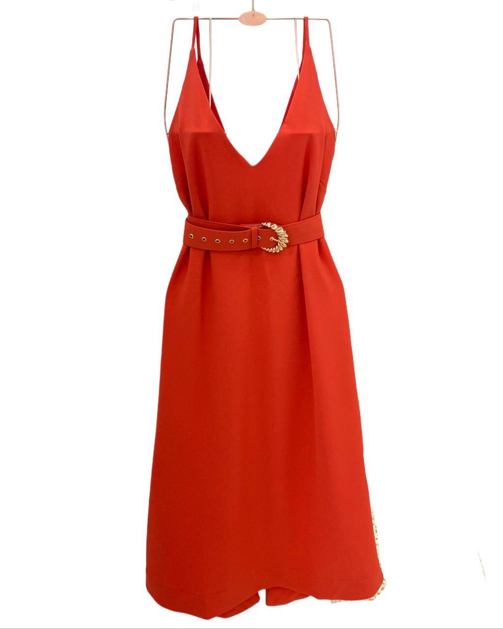 Vestido Midi Lauren Coral