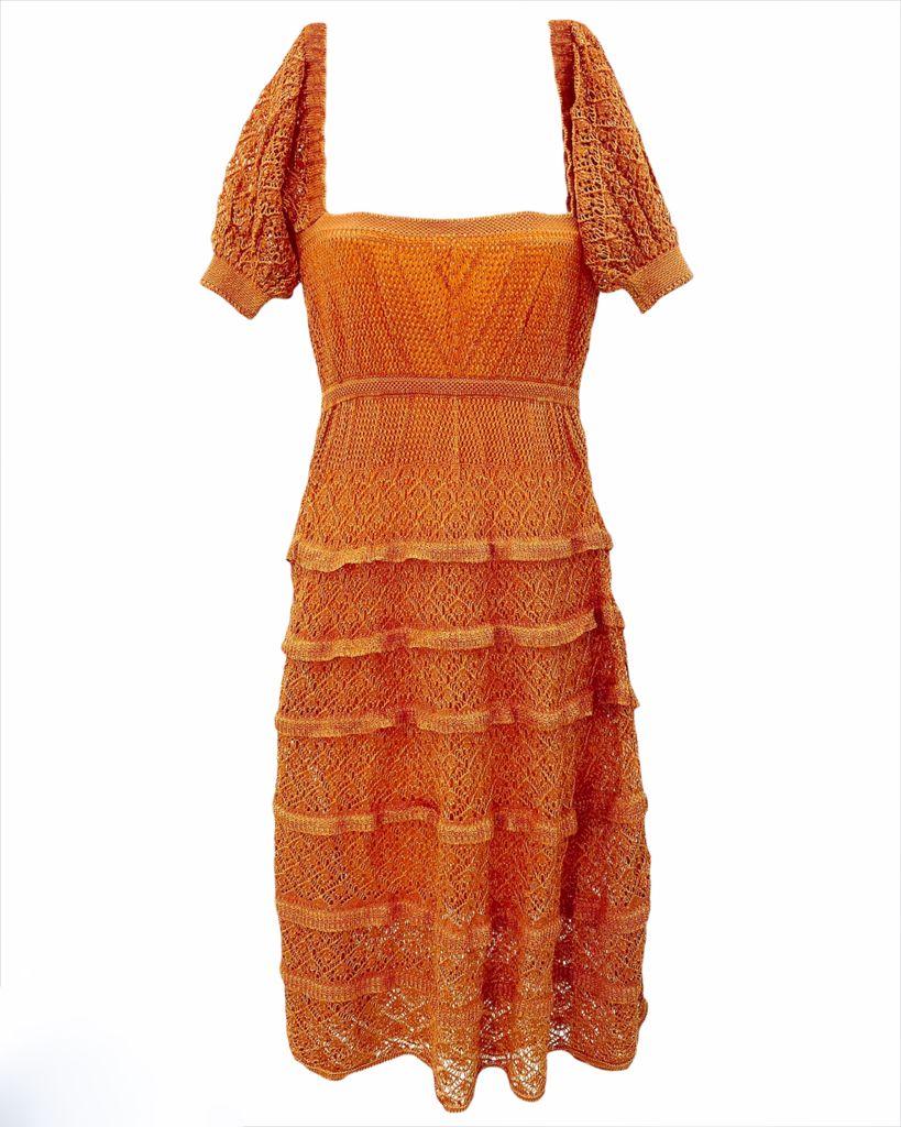 Vestido Tricô Midi Isabela Laranja