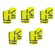 5 Coletes SteelFlex 4 M 1 XG 1 Bolso Liso Am Fluor