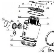 Anel de Vedação P/ Aspirador de Pó Black e Decker A4 e A4A A4VSP08