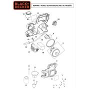 Bico p/ Pistola de Pintura BDPH200 e BDPH400 Black e Decker 1004570-72