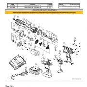 Caixa de Engrenagem P/ Parafusadeira Vonder PFV018 e PFD018 9306018003