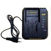 Carregador De Bateria 20v Max Bivolt P/ Parafusadeira SCD20 Stanley 90624066