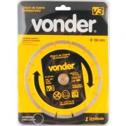 Disco de corte diamantado 180mm V3 VONDER 1268300180